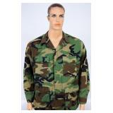 Combat Coat Woodland Camo size Med Reg