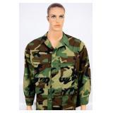 US Military Battle Dress Uniform Coat Woodland -MR