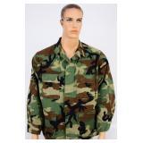 USGI BDU Hot Weather  Combat Coat Woodland Camo LR