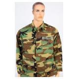 USGI BDU Hot Weather  Combat Coat Woodland Camo MR