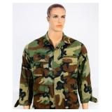 USGI BDU Hot Weather  Combat Coat Woodland Camo SS