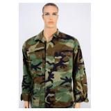 USGI BDU Hot Weather  Combat Coat Woodland Camo ML