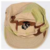 Desert Camo Marine Corps Fatigue Cap w/ USMC emble