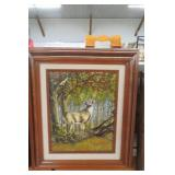 Signed Hargrove Deer in the Woods