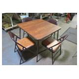 Card Table &  4 Chairs Set  VGC
