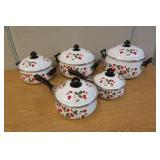 Vintage Strawberries & Cream Vintage Pan Set