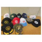 Lot of 12 Hats Railroad, Marines, Notre Dame +