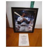 Willie Mayes Signed Framed 8 x 10 with COA