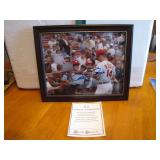 Pete Rose Autographed Framed 8 x 10 with C.O.A.