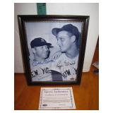 Mickey Mantle & Roger Maris Autographed Framed8x10