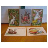 5 Antique Easter Post Cards c1910