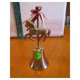Solid Brass Carousel Horse Bell 5&3/4""