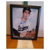 Sandy Koufax Framed & Autographed 8 x 10 with COA