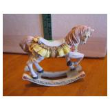 "Resin Rocking Horse Figurine 6&3/4"" x 6&1/4"""