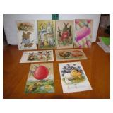 8 Antique Easter Post Cards c1909 - 1913