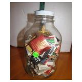1 Gallon Jar with Advertising Match Books