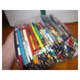 1 Gallon Zip Lock Bag of Advertising Pens most are