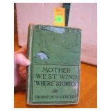 "Antique 1918 Mother West Wind ""Where"" Stories Book"