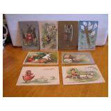 8 Antique Easter Post Cards