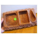 Vtg Pipe Smoking Tray for Pipe, Tobacco & Ashtray