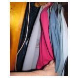 Clothing  (left side of closet)