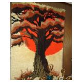 Latch Hook Tree Wall Decor (located in
