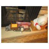 Bear & more on ledge of fireplace (located in