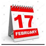 February 17th @ 6 pm KEEP CHECKING BACK!!!