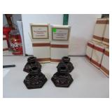 4 Vtg Avon Cape Cod Candlestick Holders with Boxes