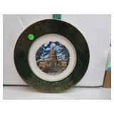 "Vintage Capital Washington D.C. 11"" Plate"