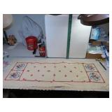 "Vintage Fancy Work Dresser Scarf 40"" x 15"""