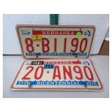 2 Vintage Nebraska Bicentennial Plates