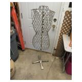 "Vintage Wire Dress Form & Stand 51"" tall"