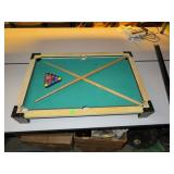 Vtg Toy Table Top Pool Table with 2 Sticks, 16