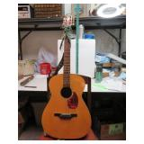 Vintage Acoustic Guitar Japan Wood