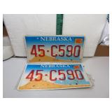 Nebraska License Plate Set 45-C590