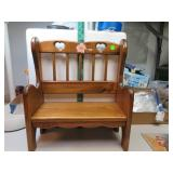 "Wood Doll Bench 17&3/4"" x 15&1/2"" x 7&1/4"""