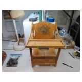 "Vintage Wood Potty Chair with Tray 20&1/2"" x 14"" x"