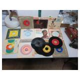 17 Vintage 45 RPM Records (Simon & Garfunkel,
