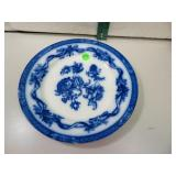 Antique Johnson Bros England Flow Blue Tokio Plate