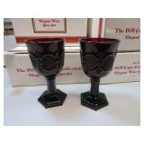 8 Vtg AVON Cape Cod Elegant Wine Glasses withBoxes