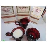2 Vtg AVON Cape Cod Creamers & 1 Sugar Bowl with
