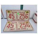 1990 Nebraska Truck License Plates 45Farm256