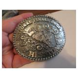 1984Adult Hesston National Finals Rodeo BeltBuckle