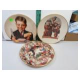 3 Vintage Plates (Norman Rockwell + 2 others)