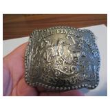 1985Adult Hesston National Finals Rodeo BeltBuckle
