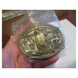1982Adult Hesston National Finals Rodeo BeltBuckle