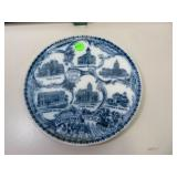 Antique Flow Blue Topeka Kans. Plate Wheelock Eng-