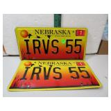 Nebraska 2005 IRVS 55 License Plate Set