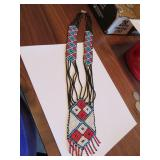 Vintage Beaded Native American Necklace